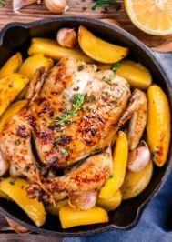 Fırında Ekşili Tavuklu Patates