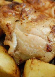 Patatesli tavuk kızartma