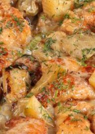 Kremalı sebzeli fırında tavuk