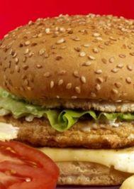 Tavuk cheeseburger