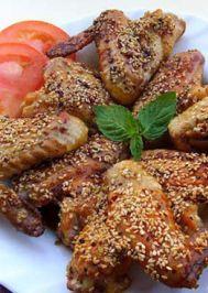 Soya soslu çıtır tavuk kanatları