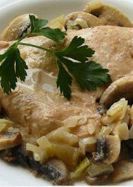 Mantarlı kremalı tavuk