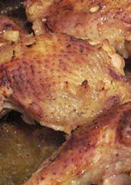 Soya soslu fırında tavuk butları