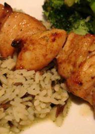 Baharatlı fırında tavuk şiş